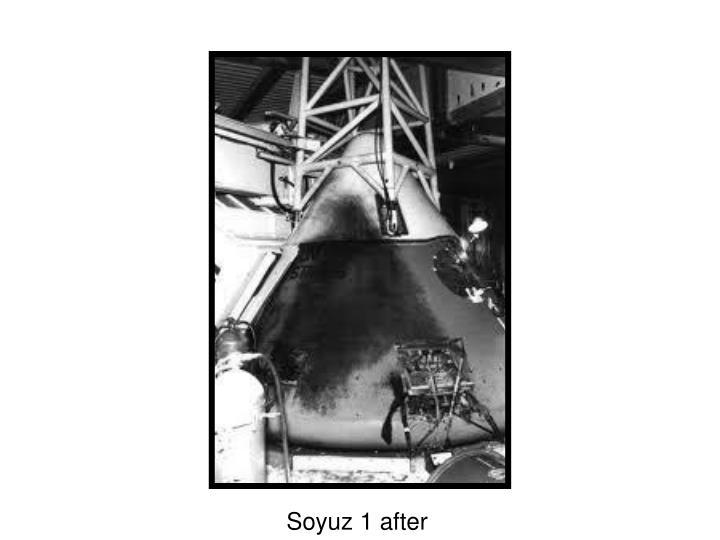 Soyuz 1 after