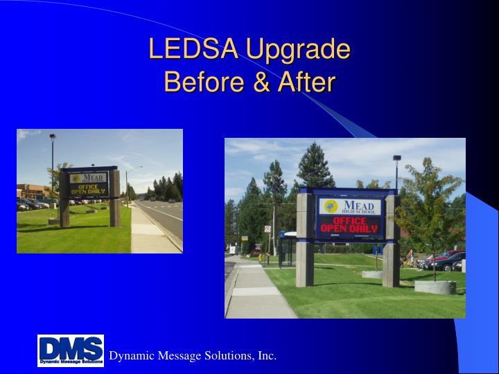 LEDSA Upgrade