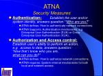 atna security measures