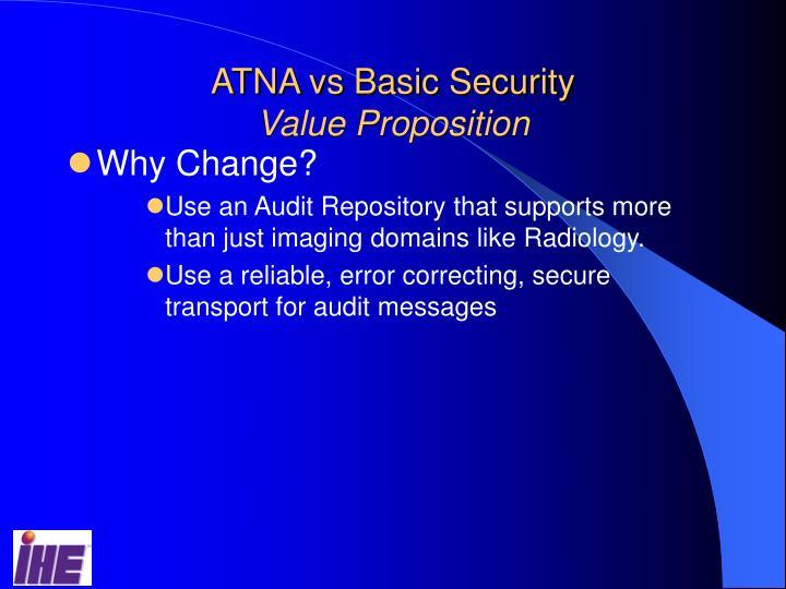 ATNA vs Basic Security
