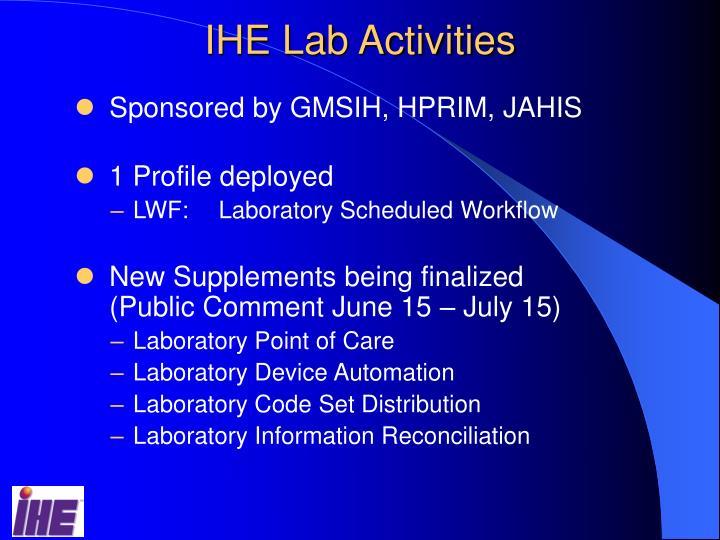 IHE Lab Activities