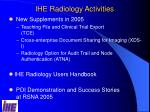 ihe radiology activities