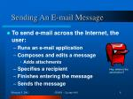 sending an e mail message