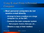 using e mail from a personal computer
