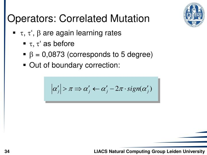 Operators: Correlated Mutation