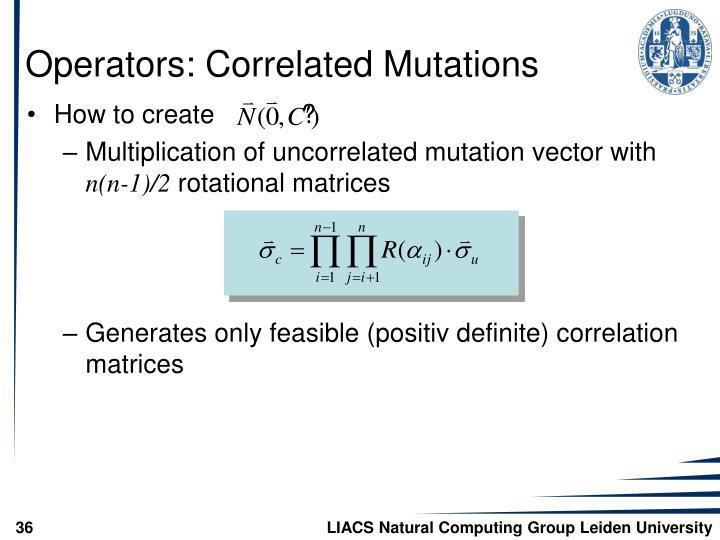 Operators: Correlated Mutations
