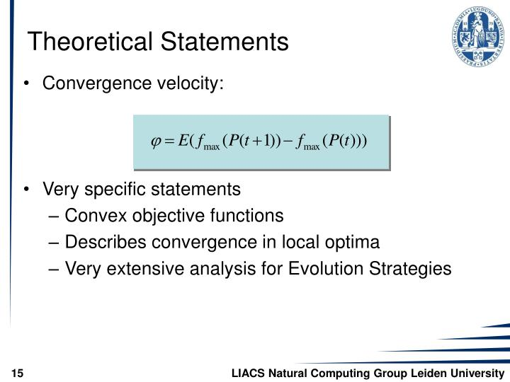 Theoretical Statements
