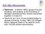 anti war movements