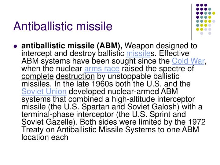 Antiballistic missile