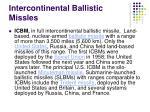 intercontinental ballistic missles