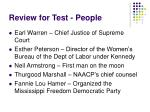 review for test people
