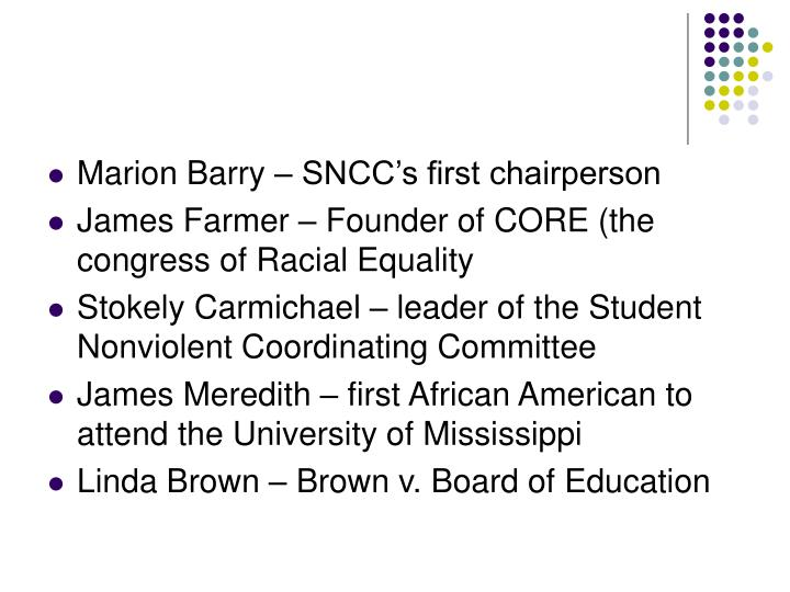 Marion Barry – SNCC's first chairperson