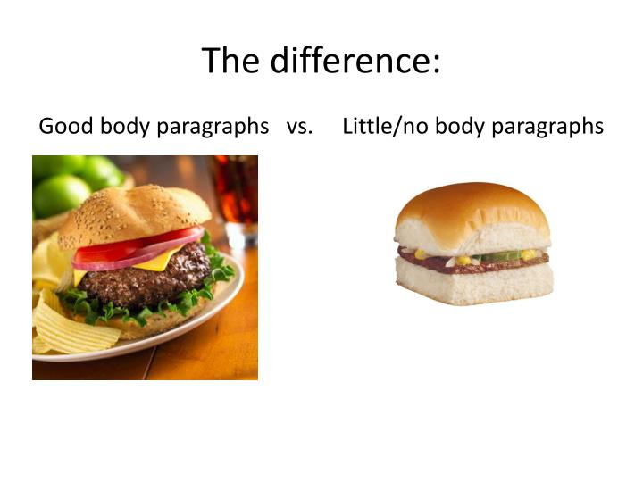 The difference: