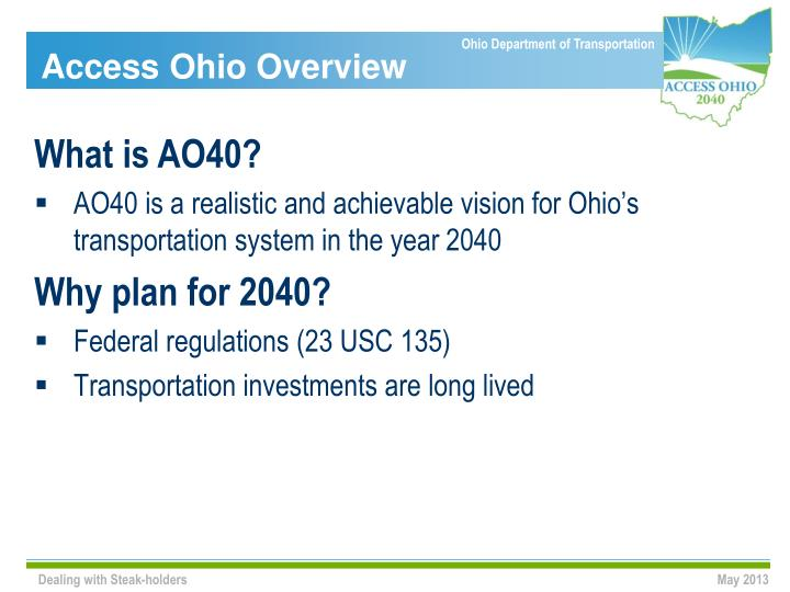 Access Ohio Overview