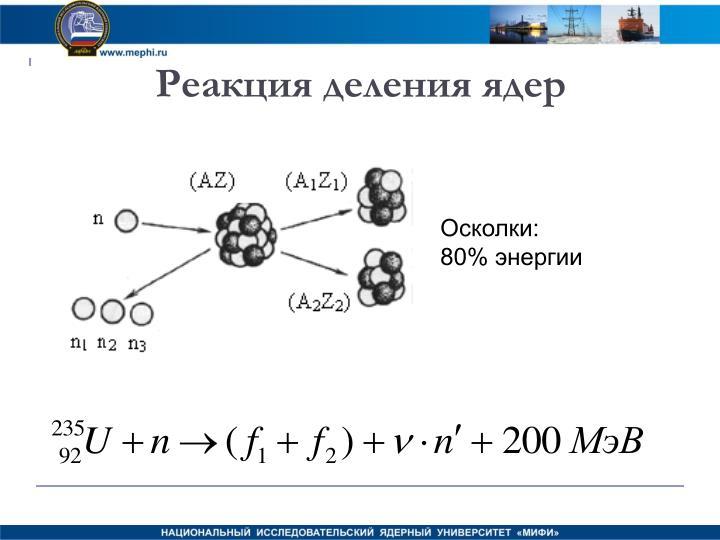 Реакция деления ядер