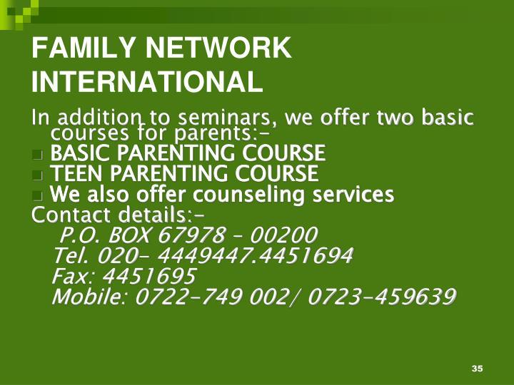 FAMILY NETWORK INTERNATIONAL