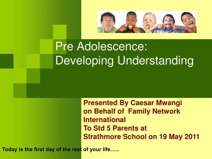 pre adolescence developing understanding