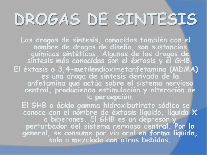 DROGAS DE SINTESIS