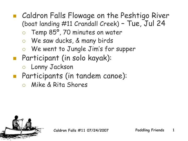 Caldron Falls Flowage on the Peshtigo River