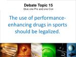 the use of performance enhancing drugs in sports should be legalized