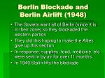 berlin blockade and berlin airlift 1948