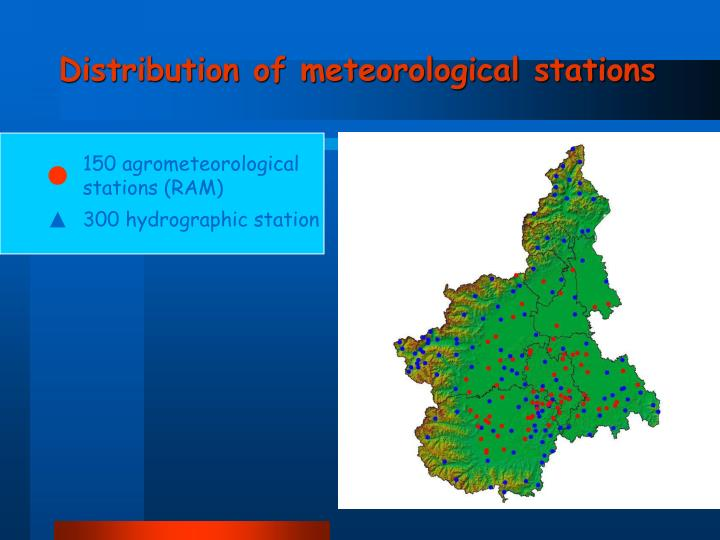 Distribution of meteorological stations