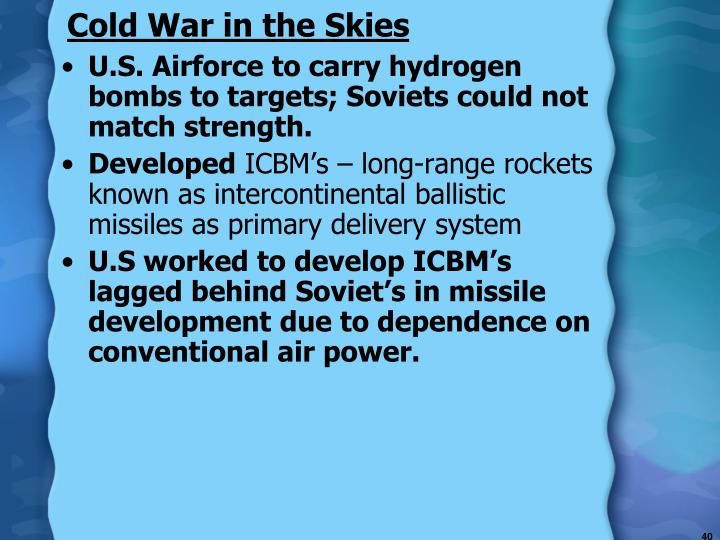 Cold War in the Skies