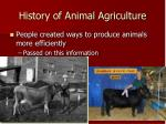 history of animal agriculture1