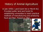history of animal agriculture4