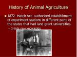 history of animal agriculture6