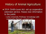 history of animal agriculture7