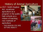 history of animal agriculture8
