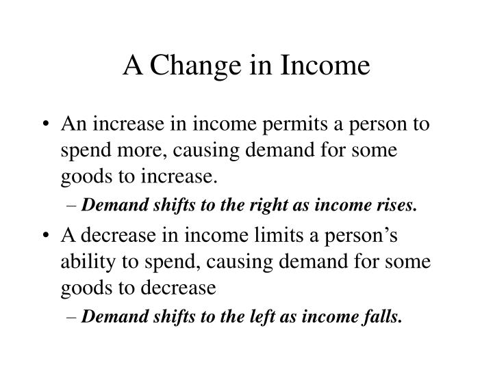 A Change in Income