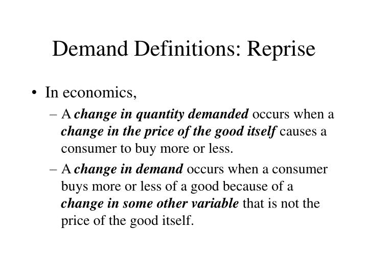 Demand definitions reprise