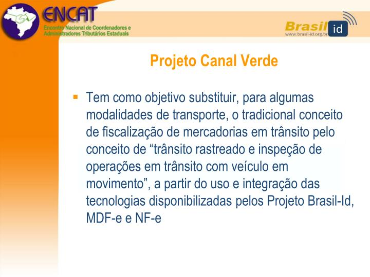 Projeto Canal Verde