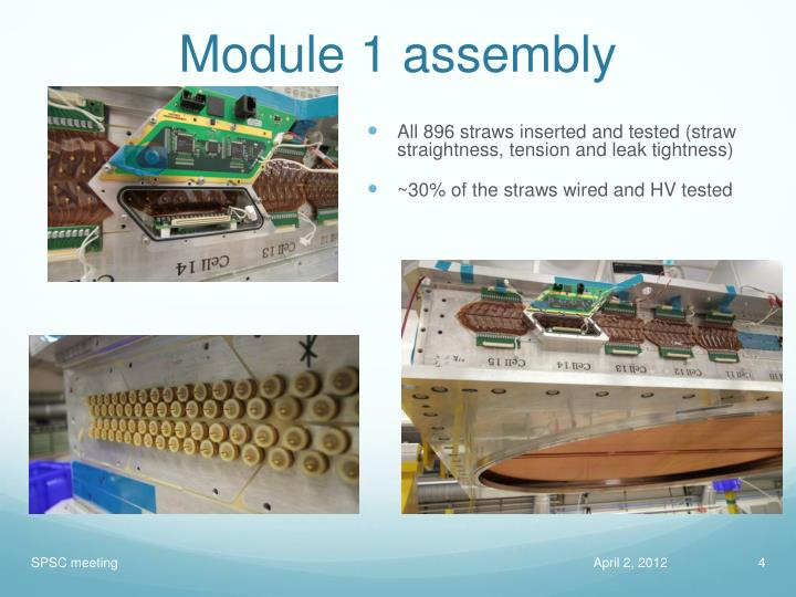 Module 1 assembly