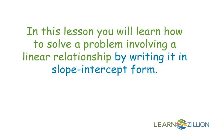 In this lesson you
