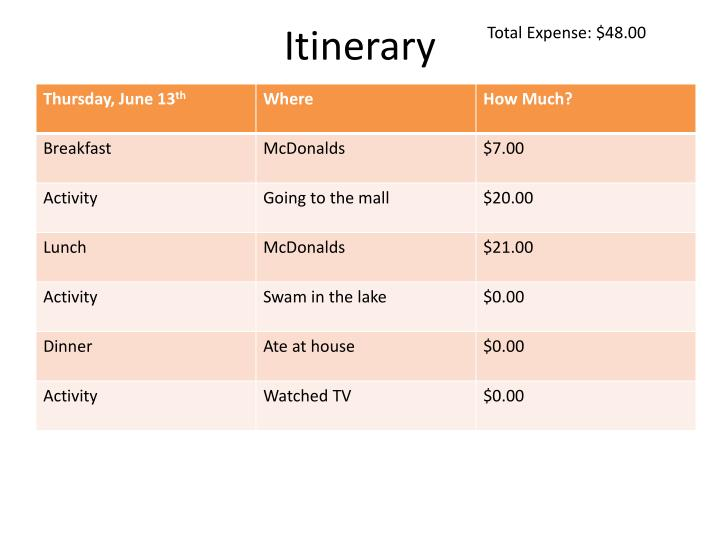 Total Expense: