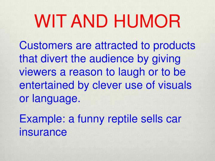 WIT AND HUMOR