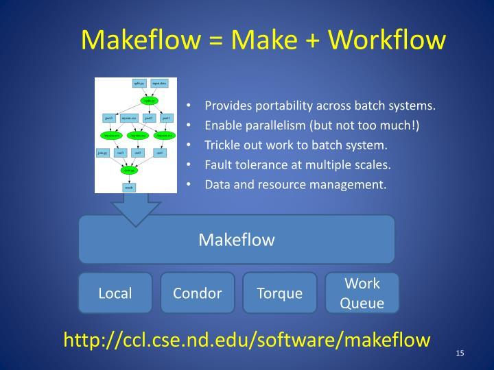 Makeflow = Make + Workflow