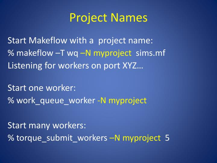 Project Names