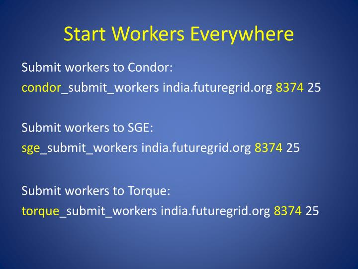 Start Workers Everywhere