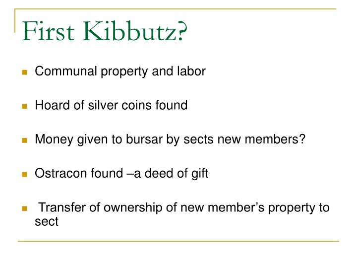 First Kibbutz?