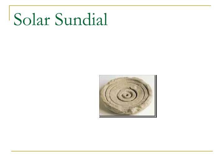 Solar Sundial