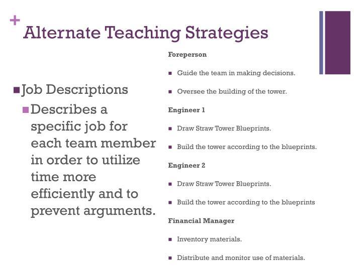 Alternate Teaching Strategies