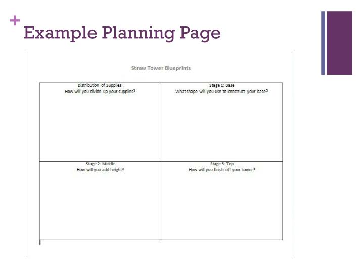 Example Planning Page