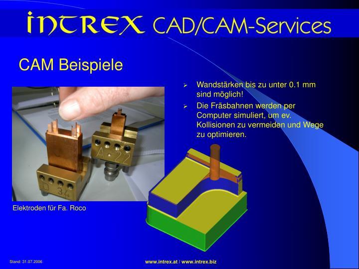CAM Beispiele