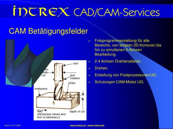 CAM Betätigungsfelder