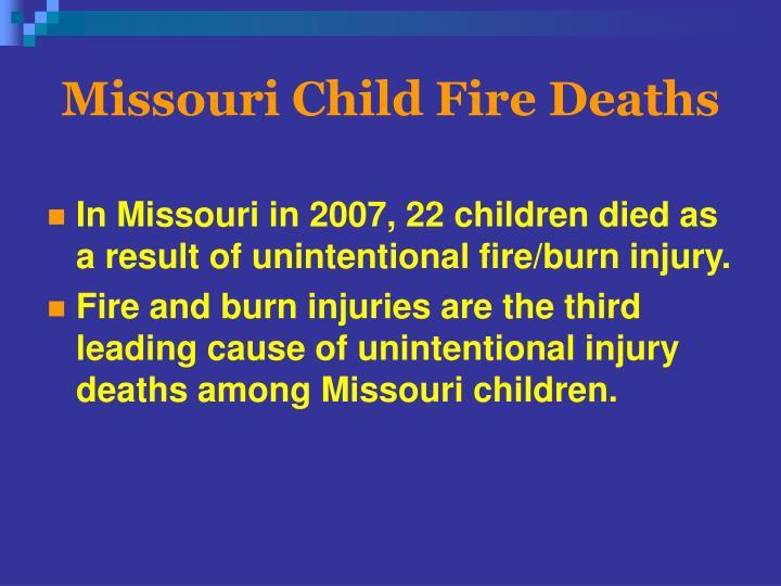 Missouri Child Fire Deaths