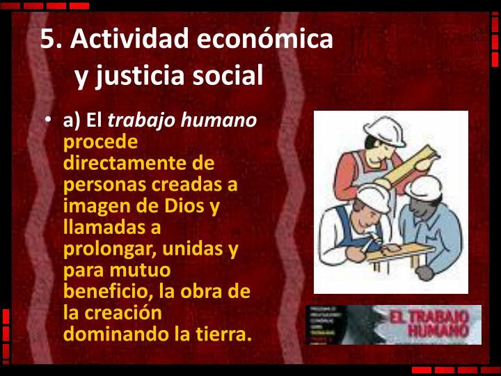 5. Actividad económica